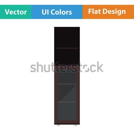 Wąski szafka ikona domu drzwi wnętrza Zdjęcia stock © angelp