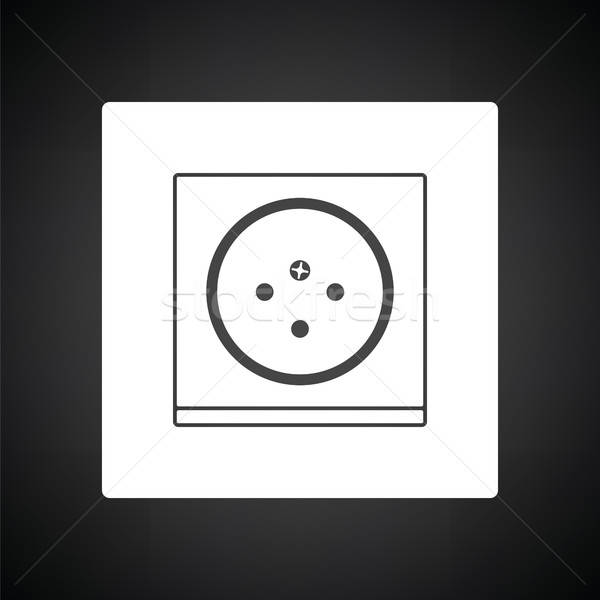 South Africa electrical socket icon Stock photo © angelp