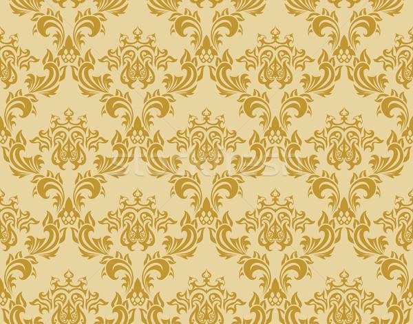 シームレス ダマスク織 パターン ベクトル 簡単 ストックフォト © angelp