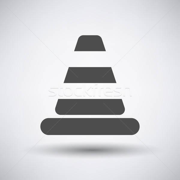 Traffic cone icon  Stock photo © angelp