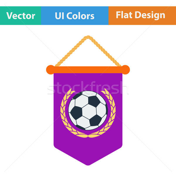 Football pennant icon Stock photo © angelp