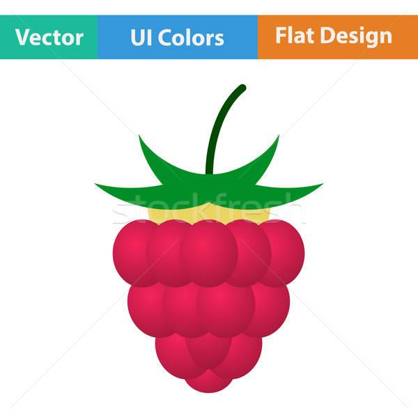 Flat design icon of Raspberry Stock photo © angelp