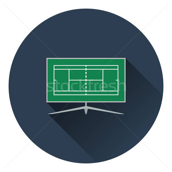 Tennis TV translation icon Stock photo © angelp