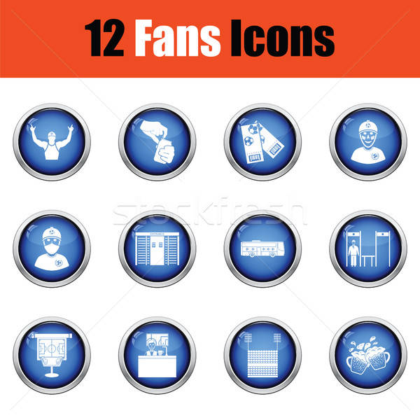 Set of soccer fans icons. Stock photo © angelp
