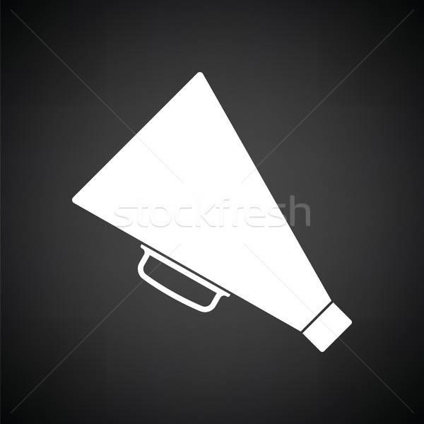 Diretor megafone ícone preto e branco fundo alto-falante Foto stock © angelp