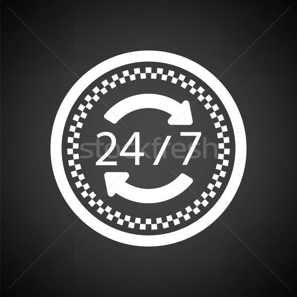 24 hour taxi service icon Stock photo © angelp