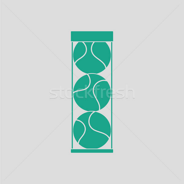 Tennis ball container icon Stock photo © angelp