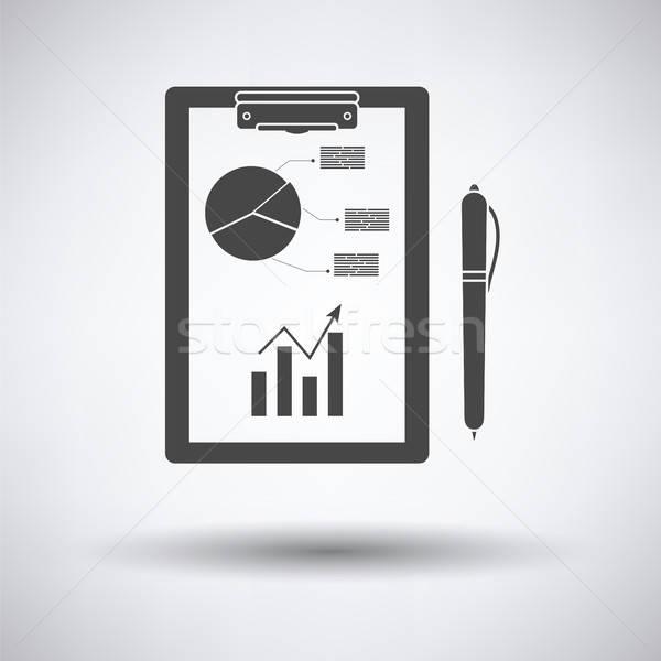 書く タブレット 分析論 グラフ ペン アイコン ストックフォト © angelp