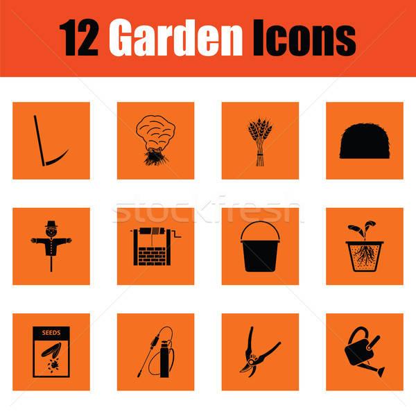 Set of gardening icons Stock photo © angelp