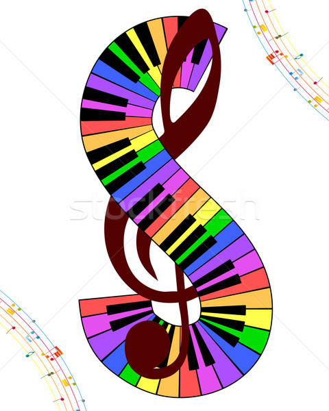 Multicolor musical Stock photo © angelp