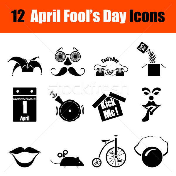 Stock photo: Set of April Fool's day icons