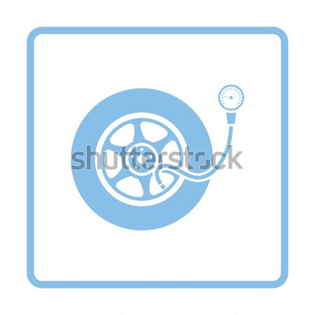 Flat design icon of Pipe with valve Stock photo © angelp