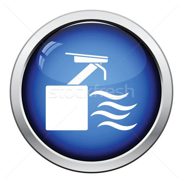 ダイビング スタンド アイコン ボタン デザイン ストックフォト © angelp