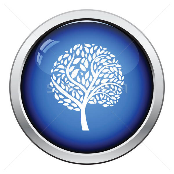 Ecological tree leaves icon Stock photo © angelp