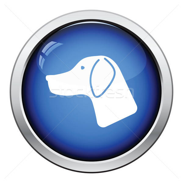Jachthond icon glanzend knop ontwerp ogen Stockfoto © angelp