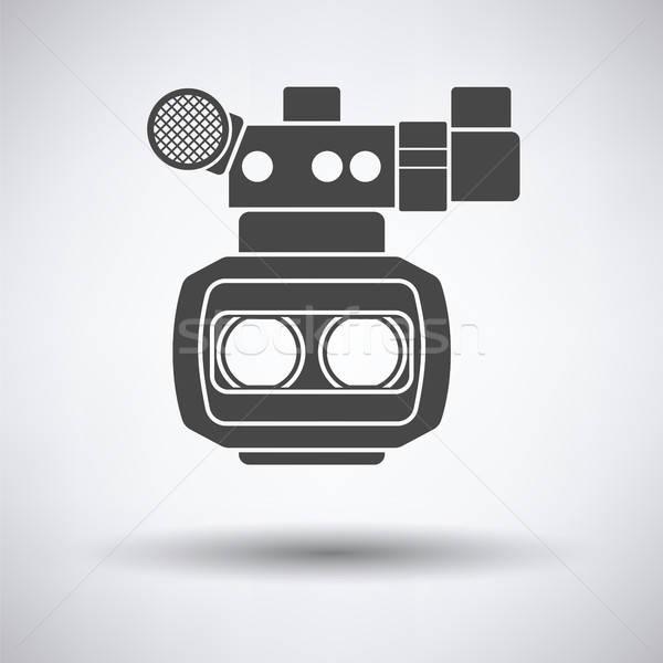 3D filmcamera icon grijs technologie film Stockfoto © angelp