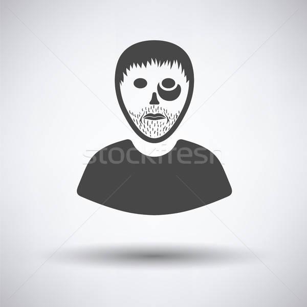 Penale uomo icona grigio mano design Foto d'archivio © angelp
