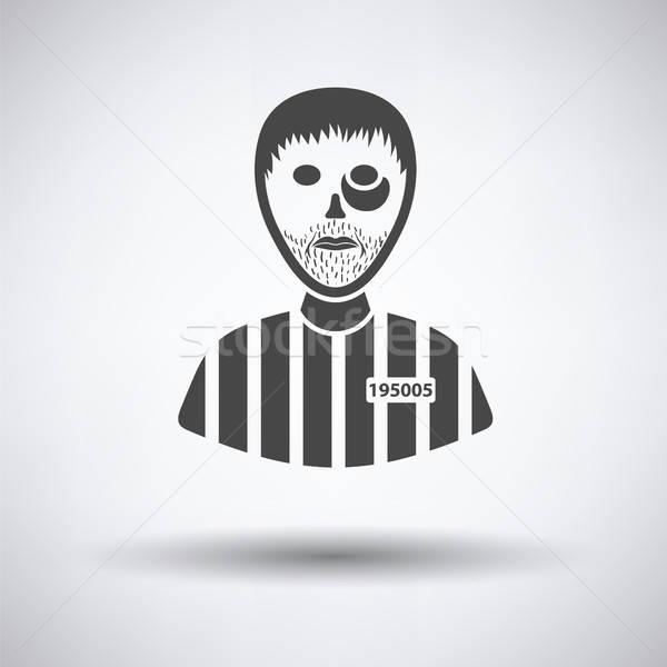 Gevangene icon grijs hand ontwerp recht Stockfoto © angelp
