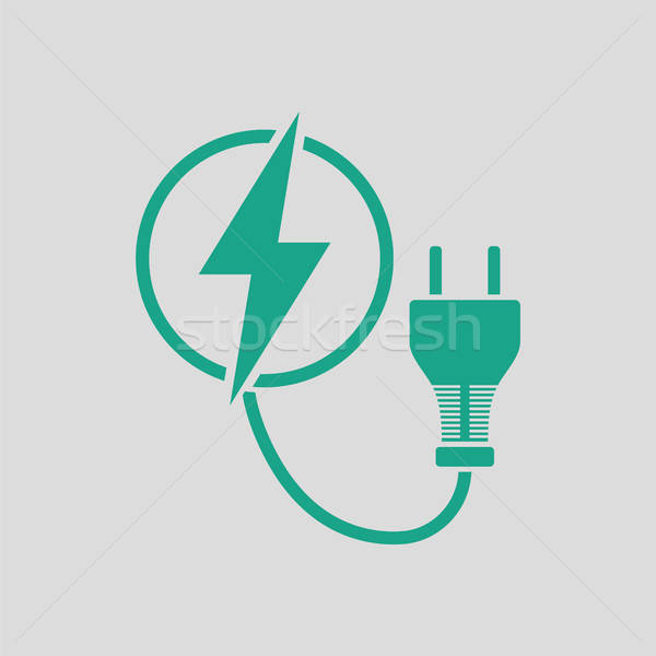 Electric plug icon Stock photo © angelp