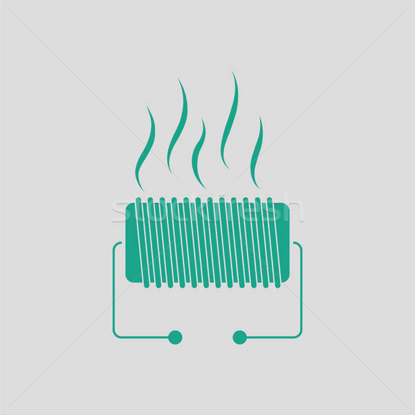 Stock photo: Electrical heater icon
