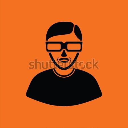 Club nocturno seguridad icono naranja negro negocios Foto stock © angelp