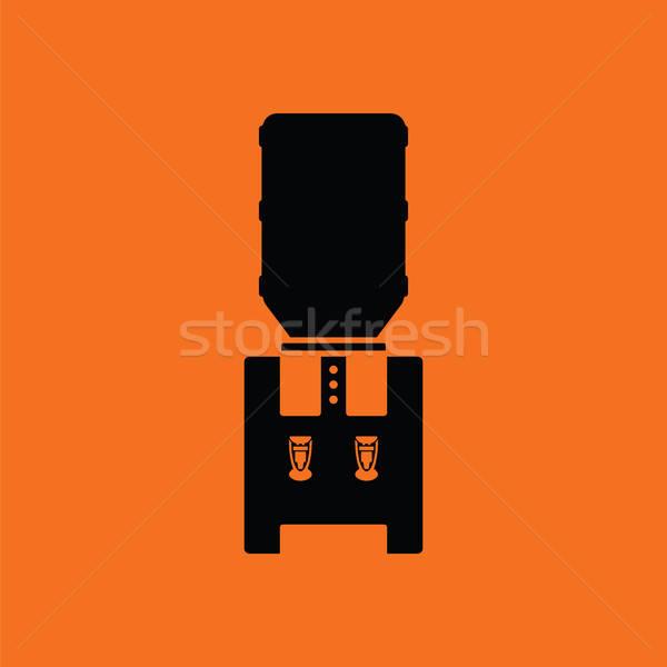 水 冷却 マシン オレンジ 黒 オフィス ストックフォト © angelp