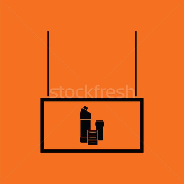 домашнее хозяйство химикалии рынке отдел икона оранжевый Сток-фото © angelp