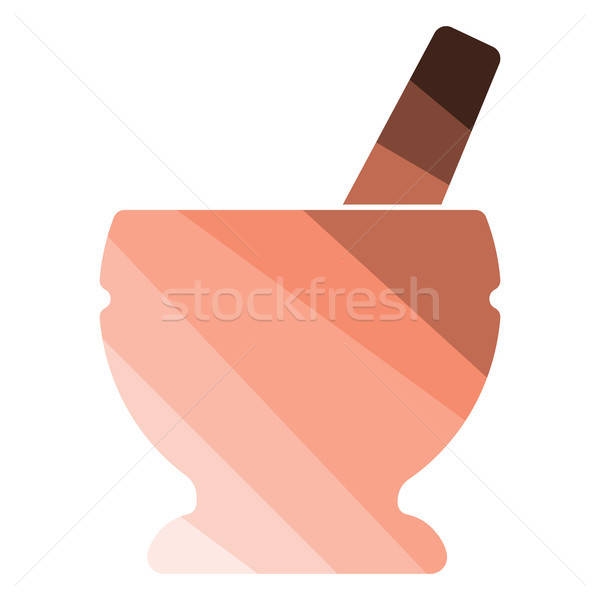 Icon of chemistry mortar Stock photo © angelp