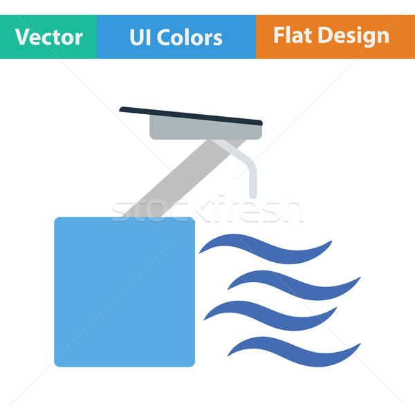 Flat design icon of Diving stand  Stock photo © angelp