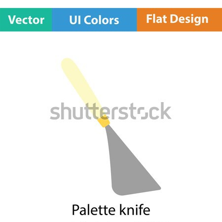 Paletine bıçak ikon renk dizayn gökkuşağı Stok fotoğraf © angelp
