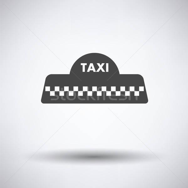 Taxi techo icono gris negocios coche Foto stock © angelp