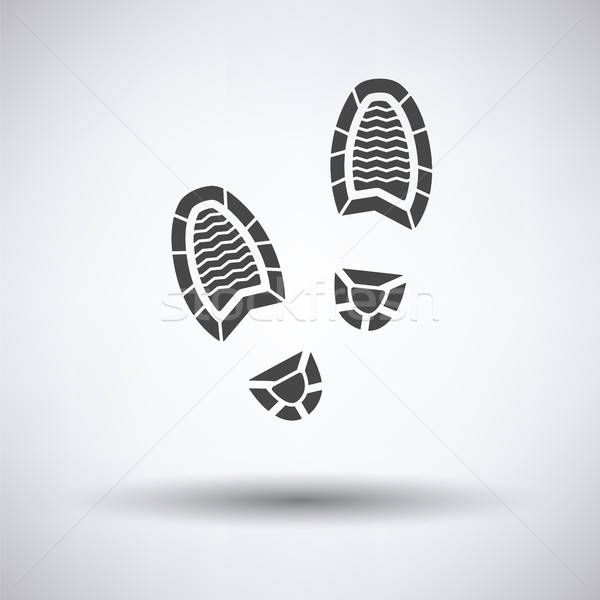 Man footprint icon Stock photo © angelp