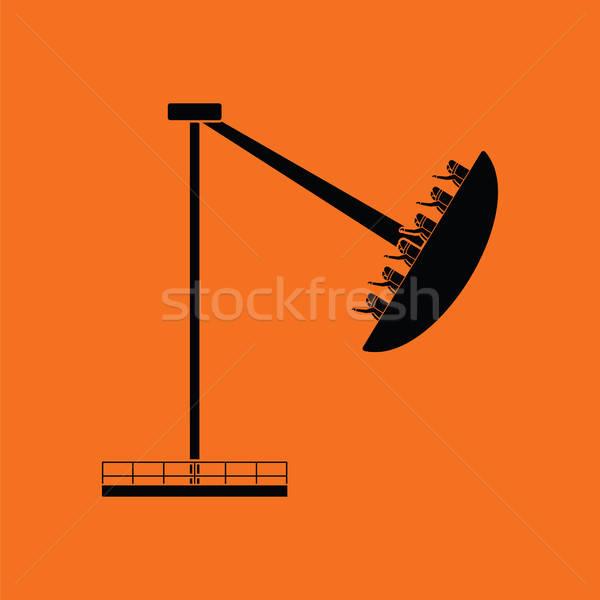 Barco carrossel ícone laranja preto arte Foto stock © angelp