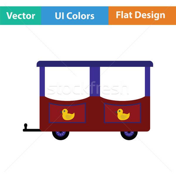 ワゴン 子供 列車 アイコン 幸せ おもちゃ ストックフォト © angelp