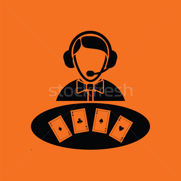 Casino dealer icon Stock photo © angelp