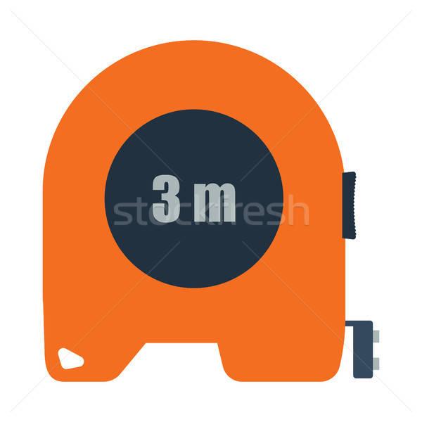 ícone fita métrica cor projeto edifício ferramenta Foto stock © angelp