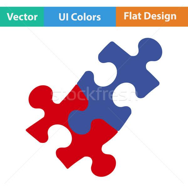 Projektu ikona puzzle decyzja ui kolory Zdjęcia stock © angelp