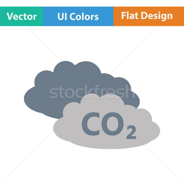 CO 2 cloud icon Stock photo © angelp