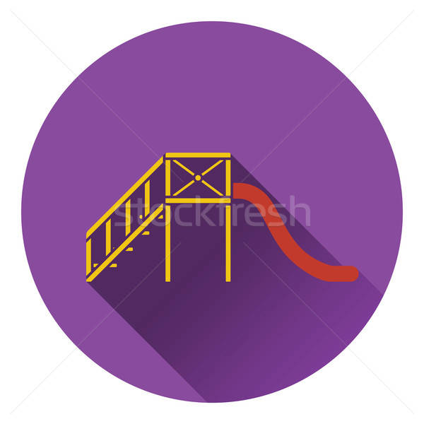 Children's slide icon Stock photo © angelp