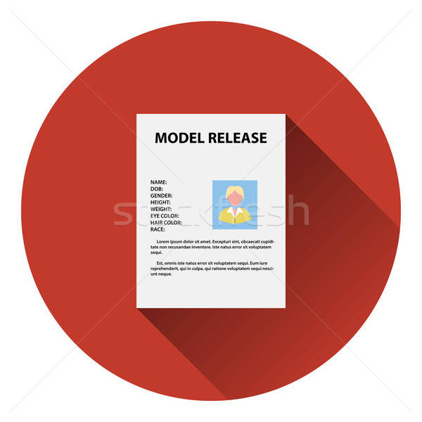 Icon of model release document Stock photo © angelp