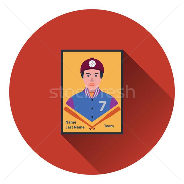 Stock fotó: Baseball · kártya · ikon · szín · terv · csapat