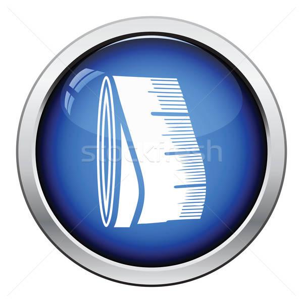 Terzi şerit metre ikon parlak düğme dizayn Stok fotoğraf © angelp