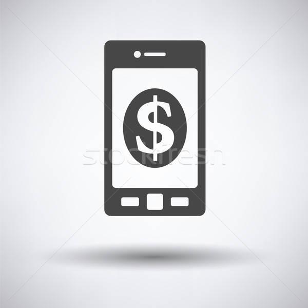 Dolar işareti ikon gri gölge dizayn Stok fotoğraf © angelp