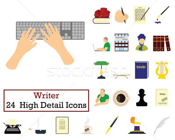 Set of 24 Writer Icons Stock photo © angelp