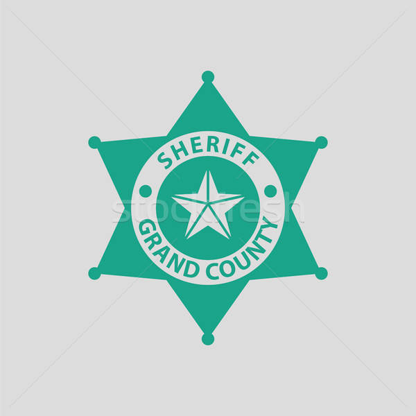 Sheriff badge icon Stock photo © angelp
