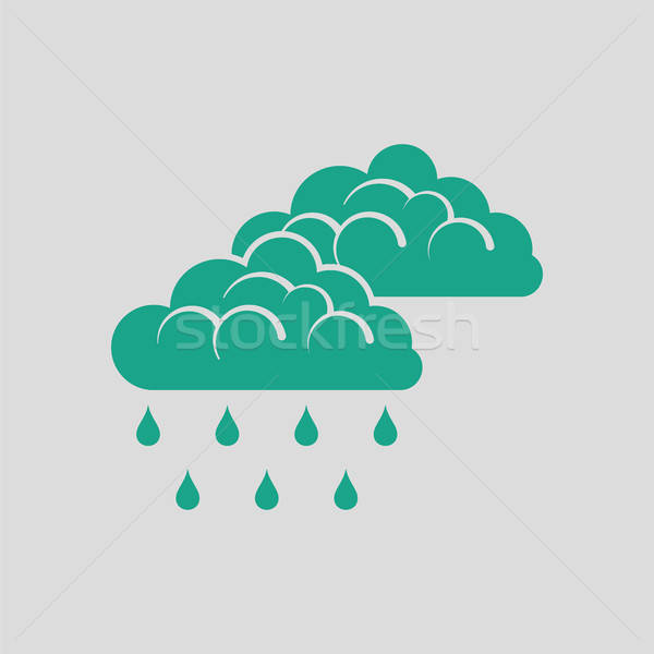 Regen icon grijs groene computer water Stockfoto © angelp
