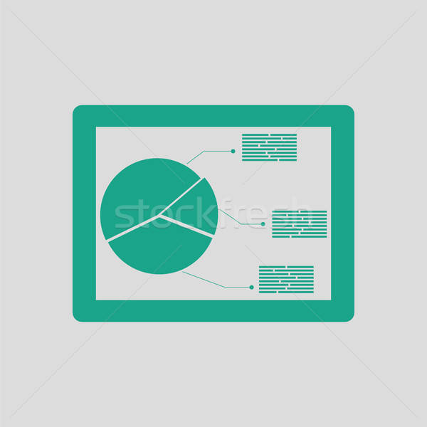 Tablet with analytics diagram icon Stock photo © angelp