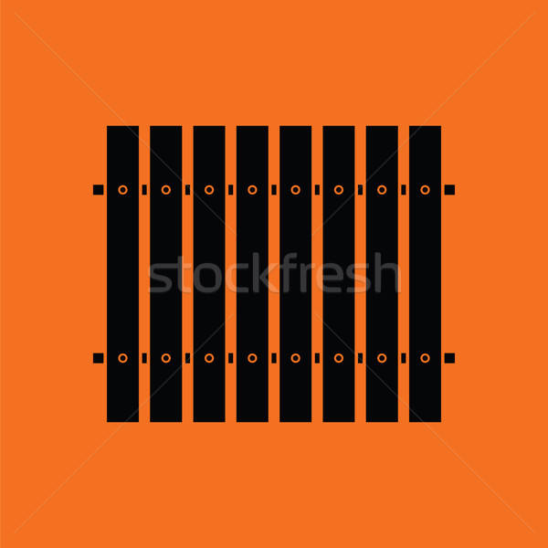 Stock fotó: Ikon · építkezés · kerítés · narancs · fekete · fa
