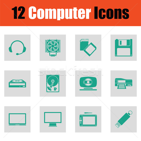 Set of computer icons Stock photo © angelp