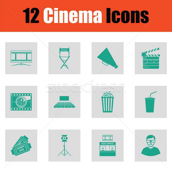 Set of cinema icons Stock photo © angelp